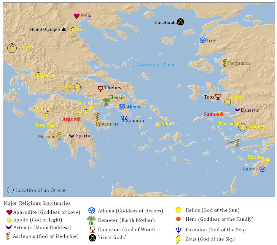 Ancient greek religious sanctuaries