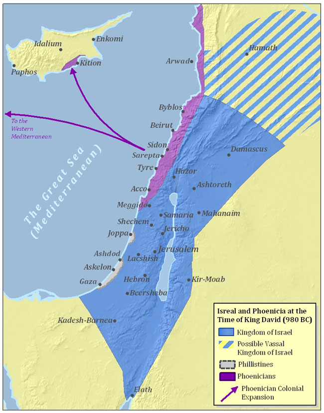 Ancient Israel and Phoenicia Map
